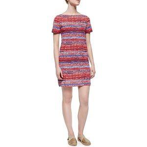 Tory Burch Red & Blue Shirt Dress